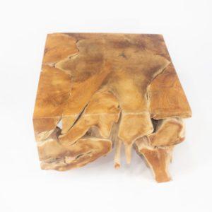 Mesa de café de raíz de teca de 60x60cm