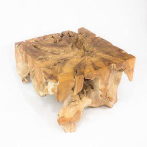 Mesa de café cuadrada de raíz de teca de 60cm