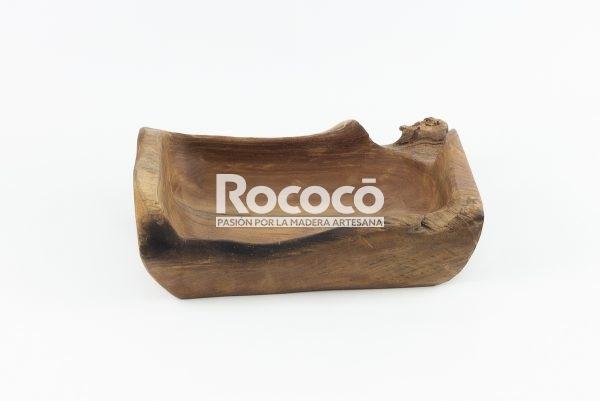 Bandeja de teca rectangular de acabado natural | mirocco.com