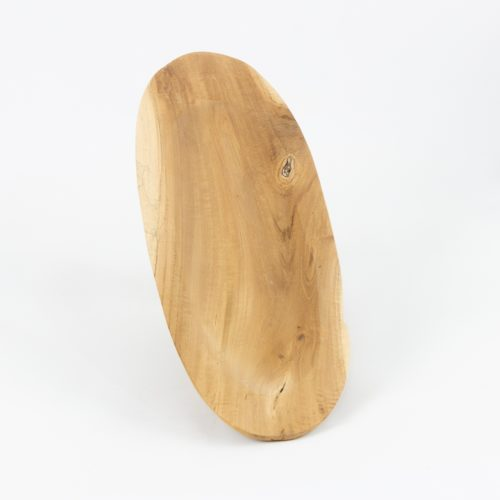 Bandeja alargada ovalada de teca acabado natural | mirocco.com